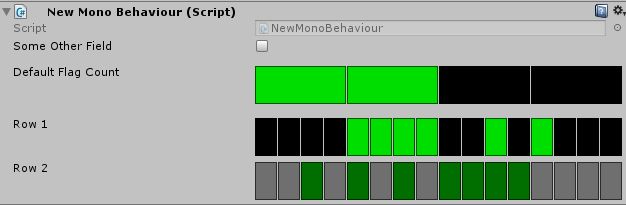 Screenshot of the property drawer with mixed values